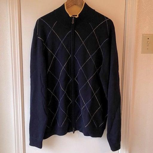 Brooks Brothers Merino Wool Full-Zip Swe