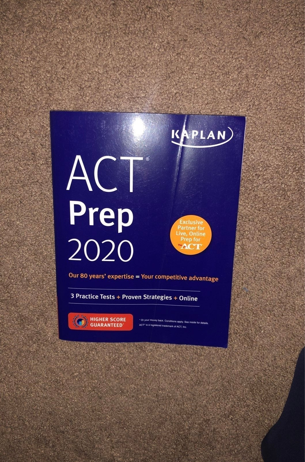 ACT prep book and online resources