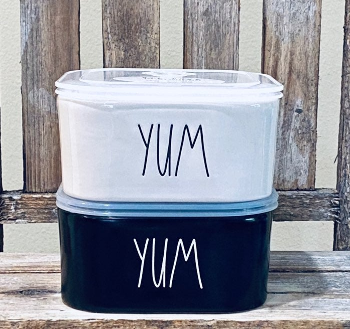 Rae Dunn YUM Containers