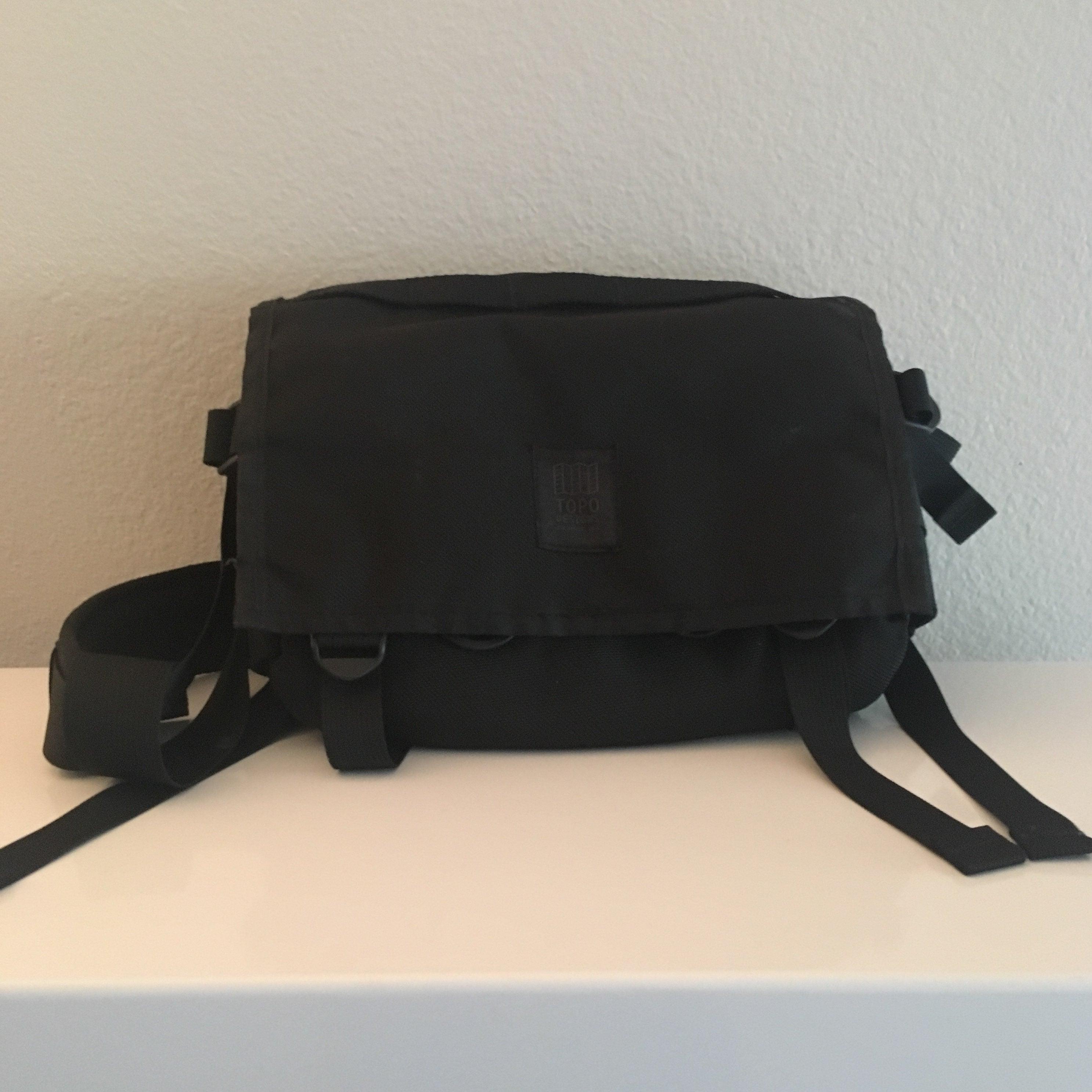 Topo Designs Field Bag in Black