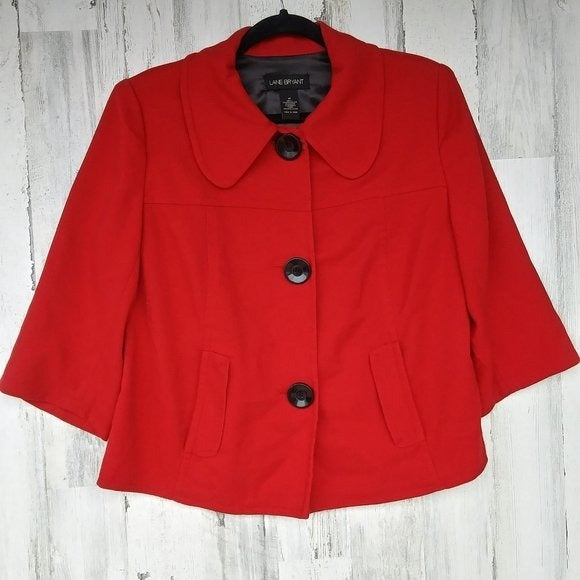 Lane Bryant Red Jacket