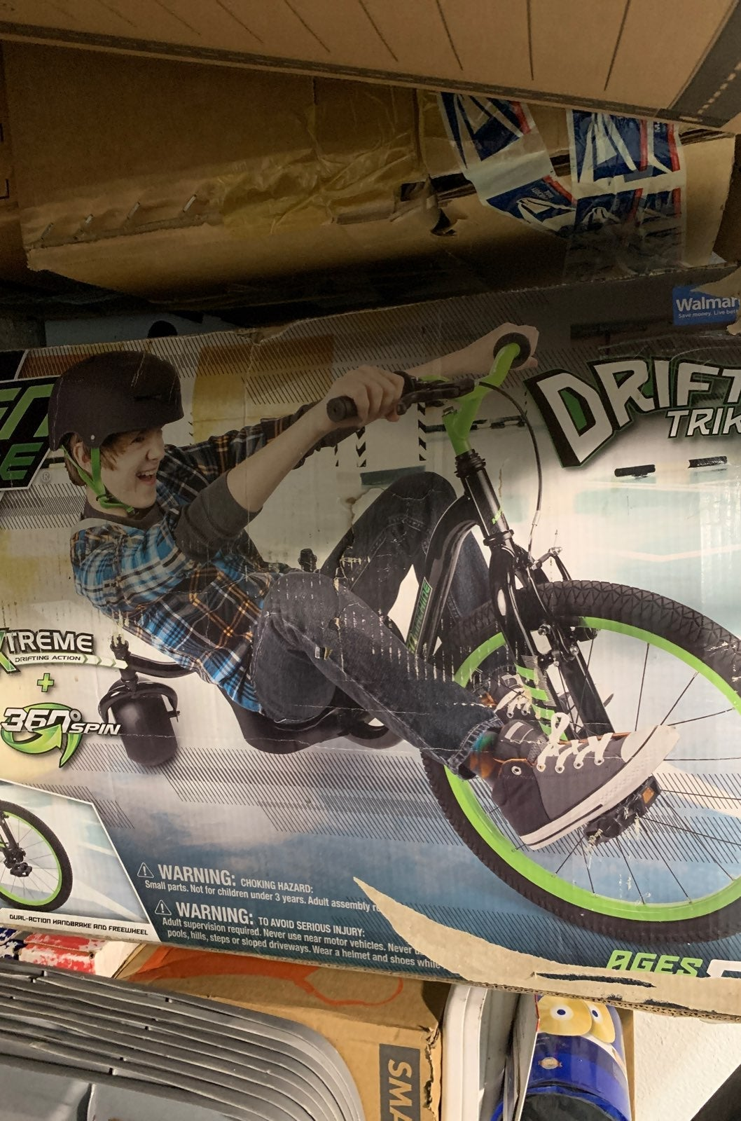 Drift trike green machine new