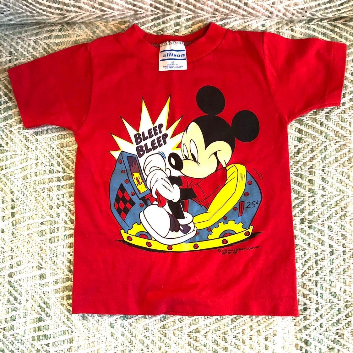 Disney thirt size 4T made in USA