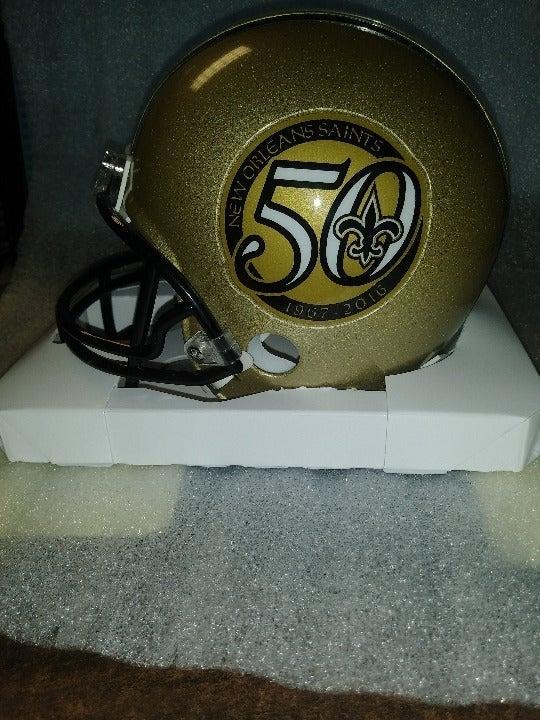 Saints 50th anniversary mini helmet