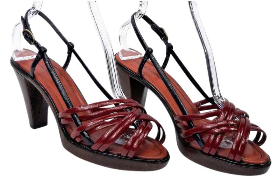 COSTUME NATIONAL Patent Platform Sandals