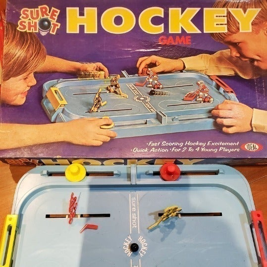 Vintage 1970 Sure Shot Hockey Game