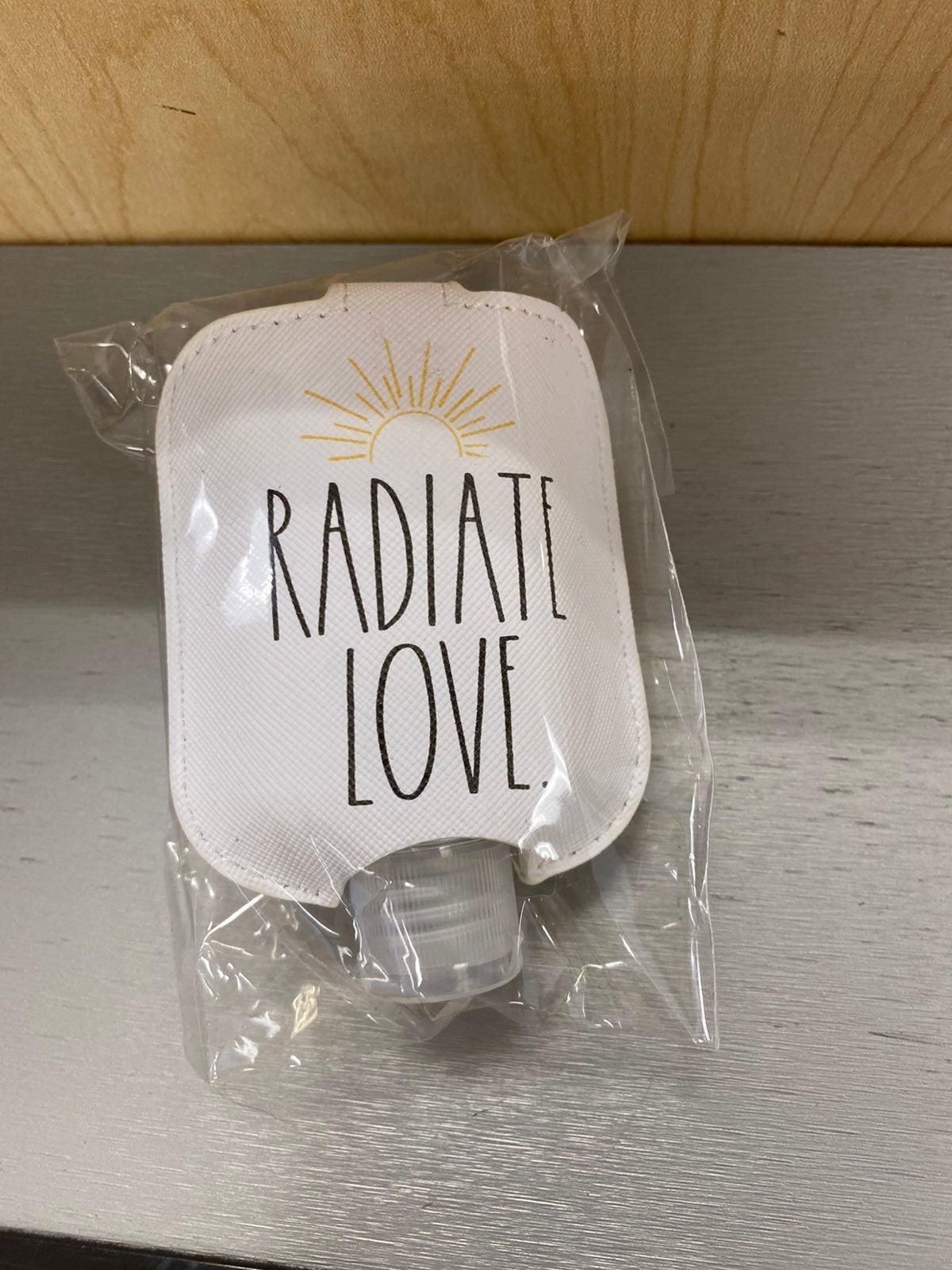 Rae Dunn Radiate Love hand sanitizer hol