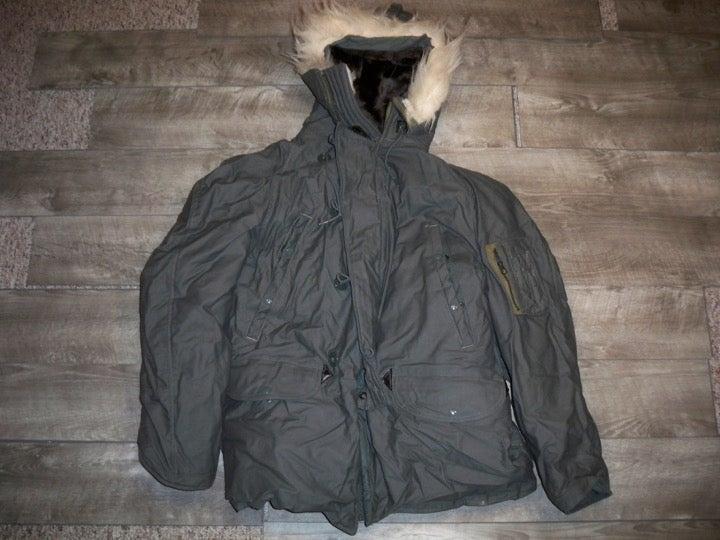 Vtg N3B Parka Snorkel Fur USAF Jacket LG
