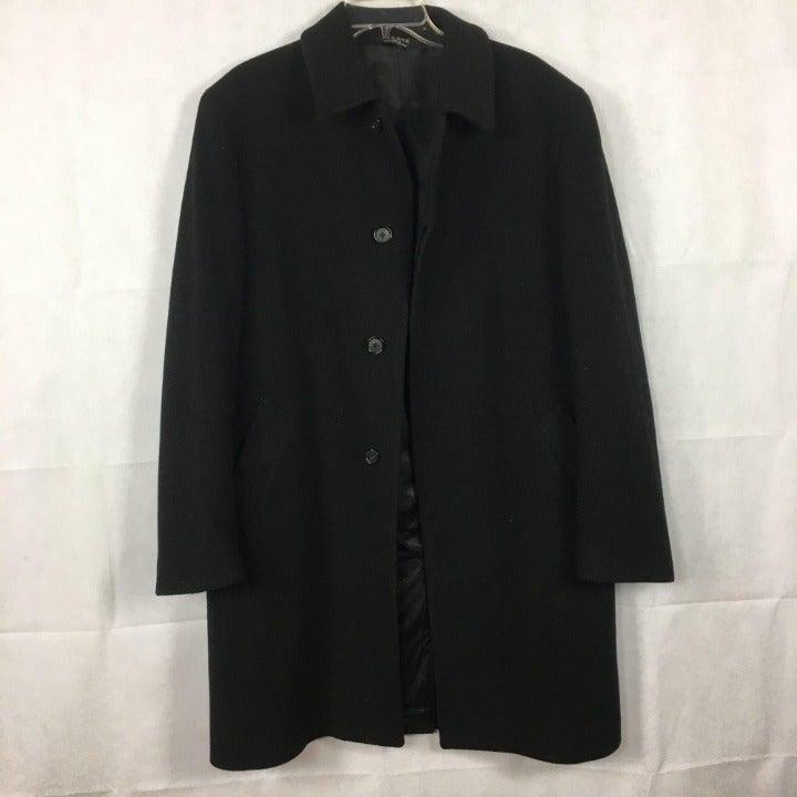 Jos. A. Bank Black Wool Car Coat Sz 40R