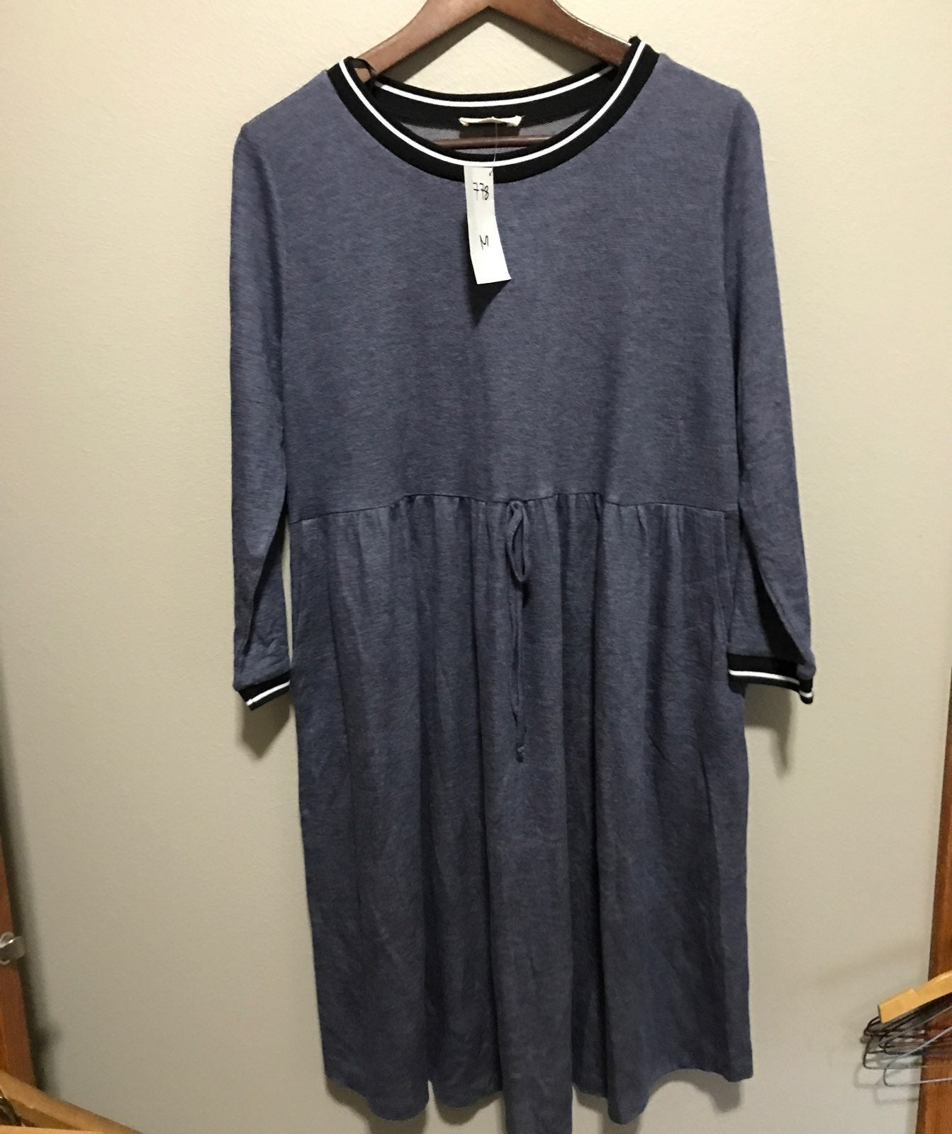 Crescent french terry type of dress