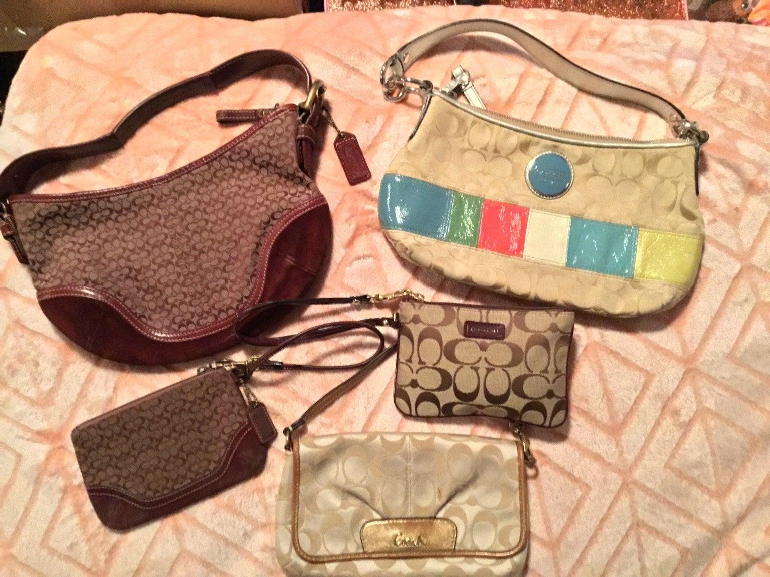 Coach purse wristlet lot of 5 VINTAGE