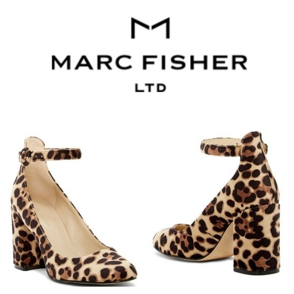 Marc Fisher LTD Issa Leopard Ankle Strap