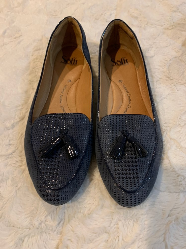 New Sofft navy slip on loafers