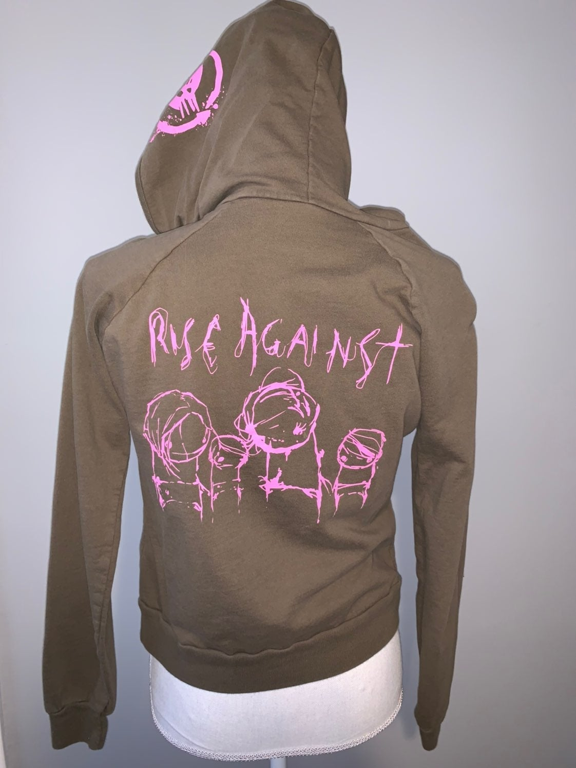 Rise Against Olive Green & Pink Hoodie