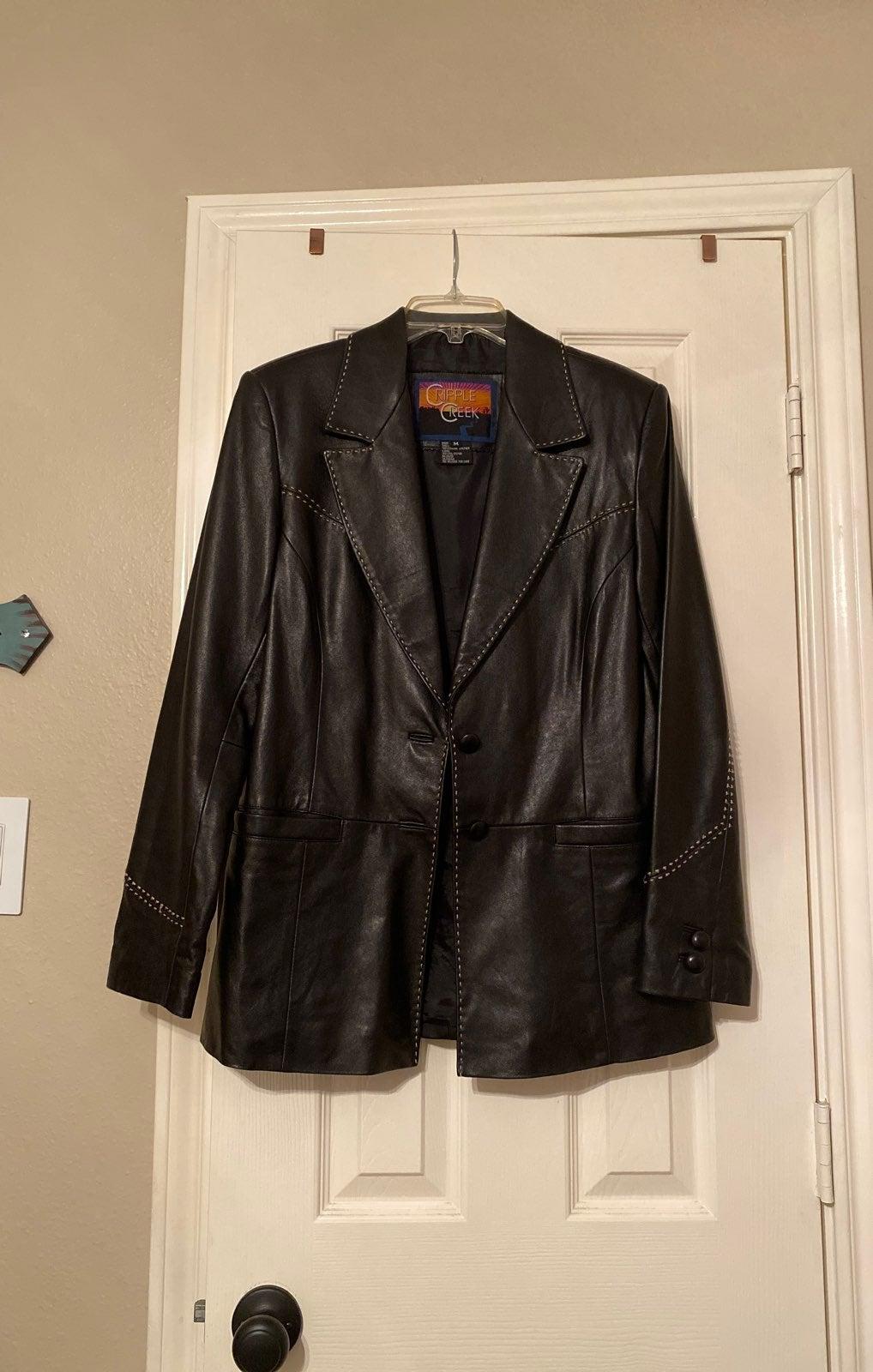 Western Vintage Calfskin Leather Jacket