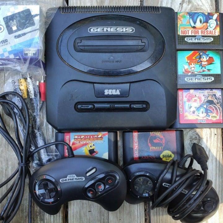 Sega Genesis Version 2 Bundle Set + Soni