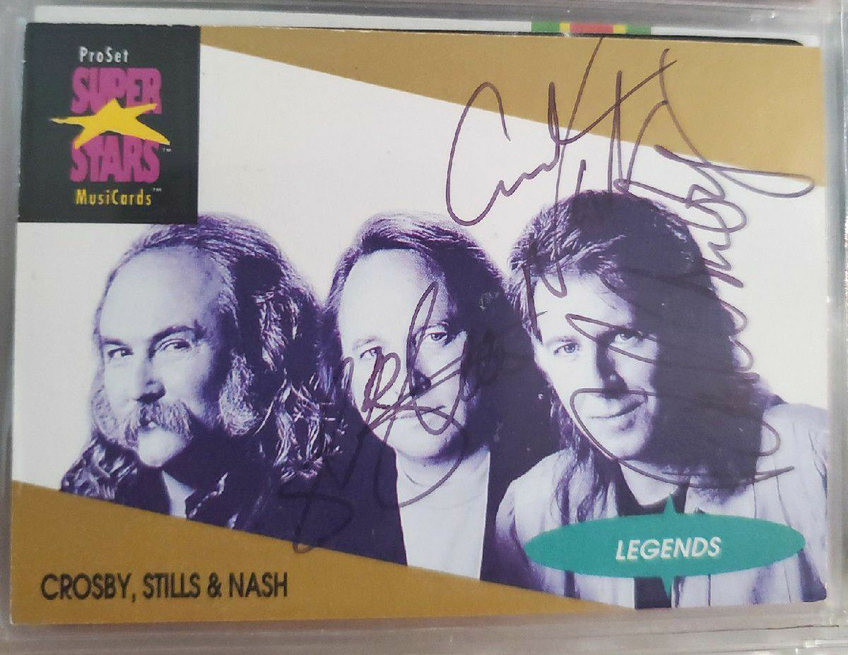 CROSBY STILLS NASH Signed Card