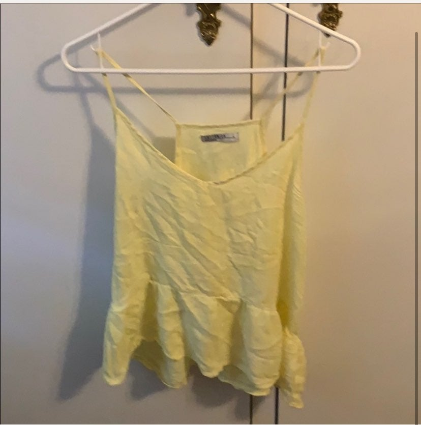 Yellow cotton on peplum top