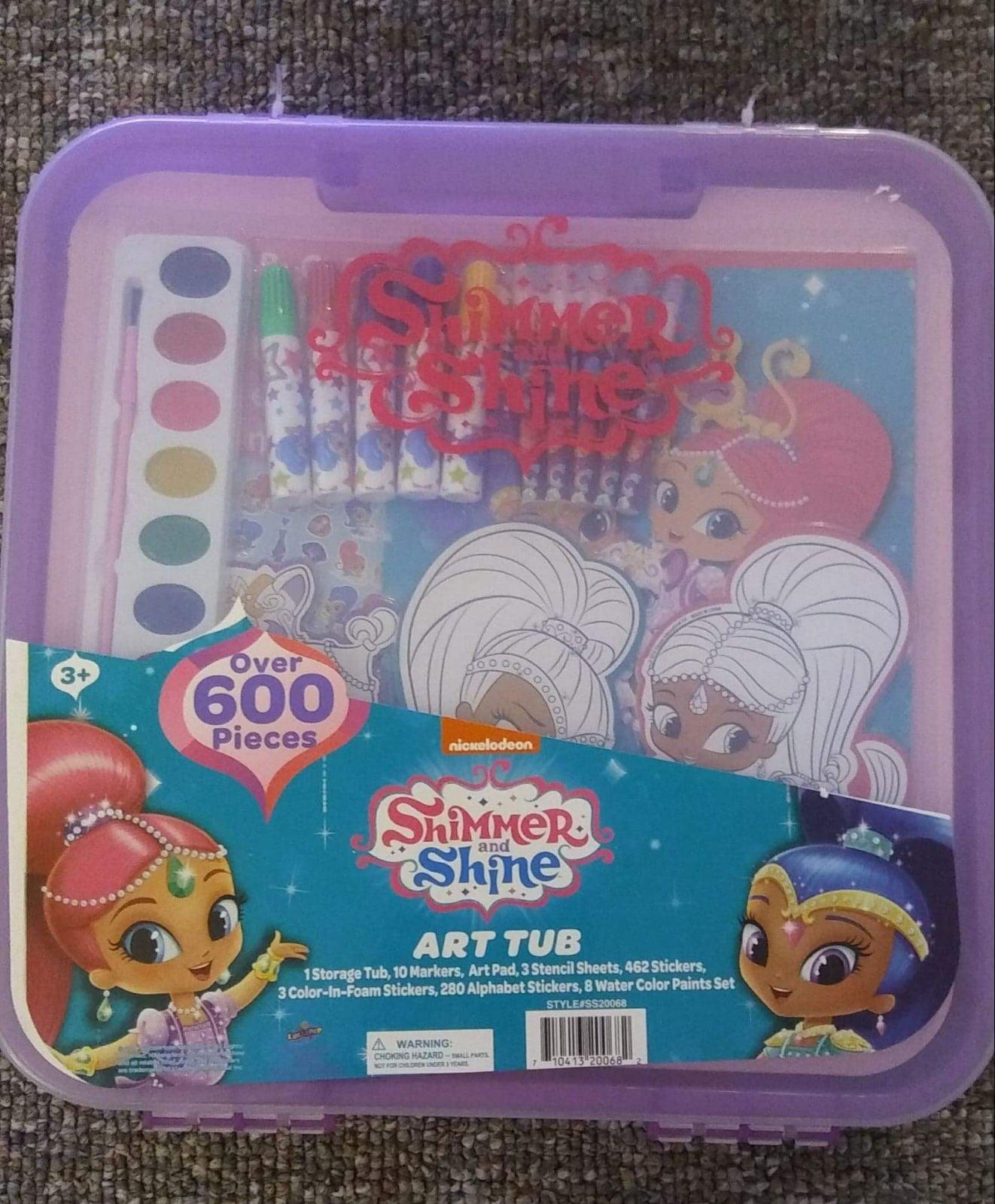 Shimmer and Shine Art Tub