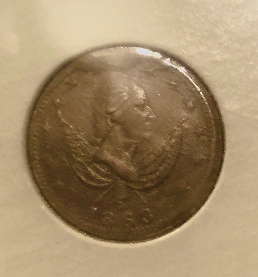 1863 Civil War Token Washington/Exchange