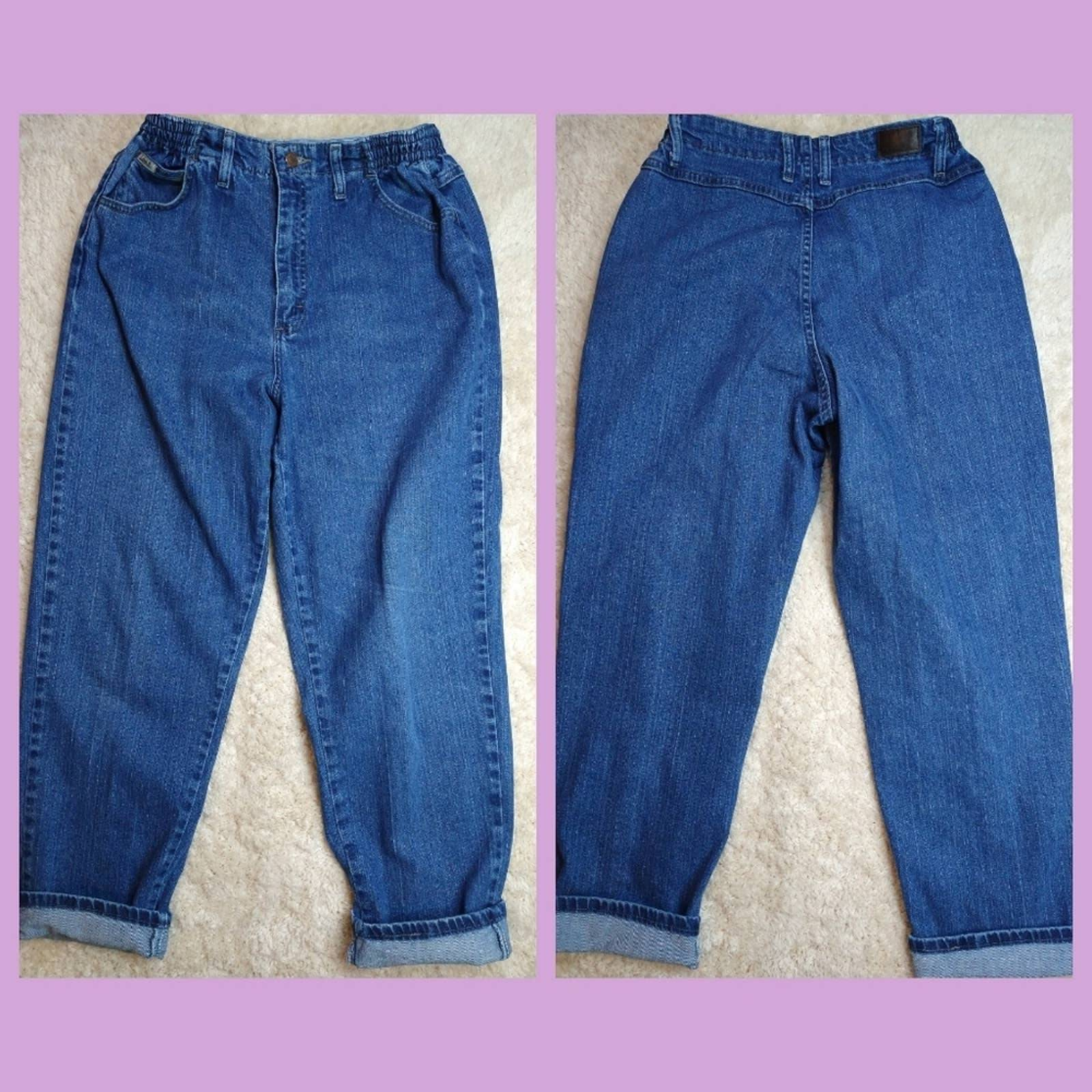 Classic Lee Mom Jeans with Elastic Waist