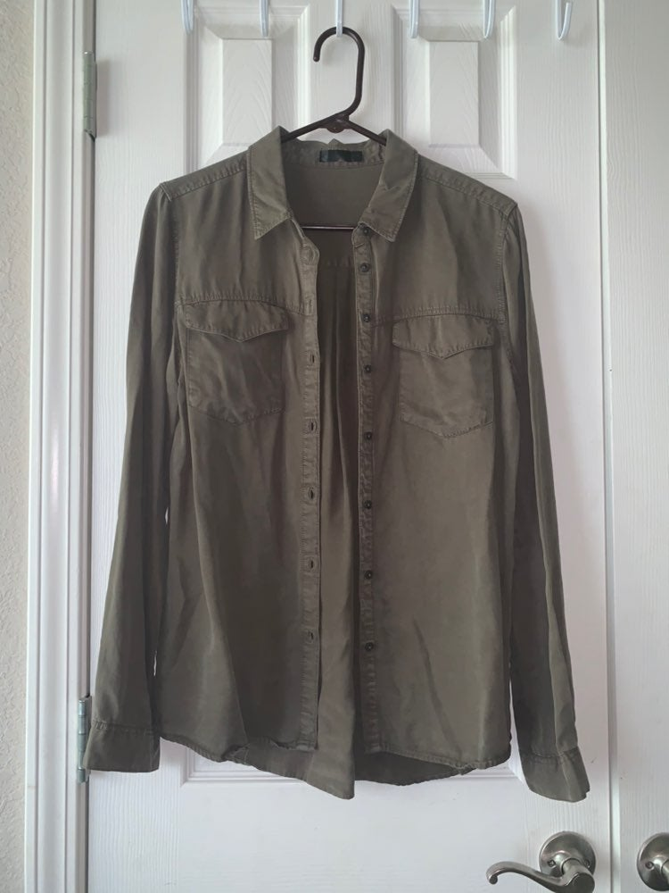 YMI Luxe Very Soft Olive green Shirt