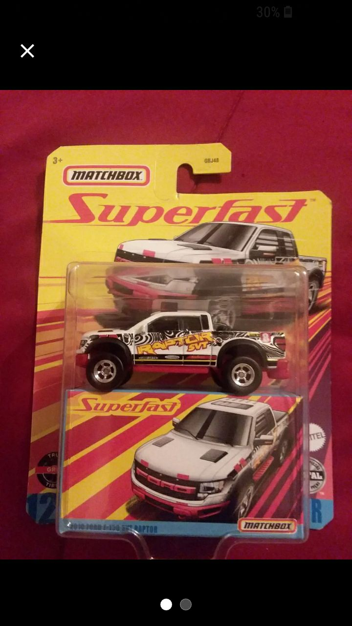 Matchbox superfast 2010 Ford Raptor