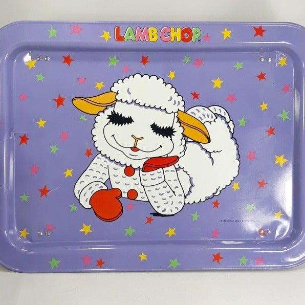 Shari Lewis Lamb Chop Tin Food Tray 1993