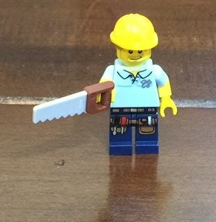 Lego Construction Worker Mini Figure