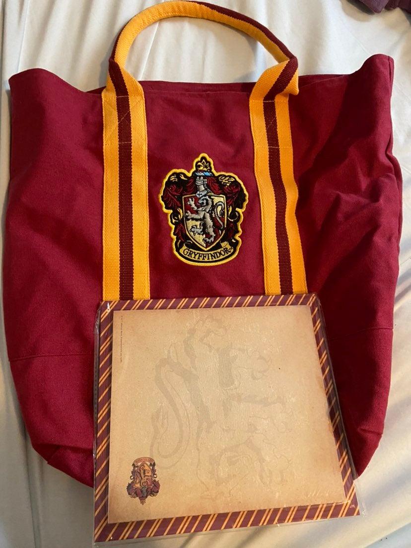 gryffindor tote bag and stationery set