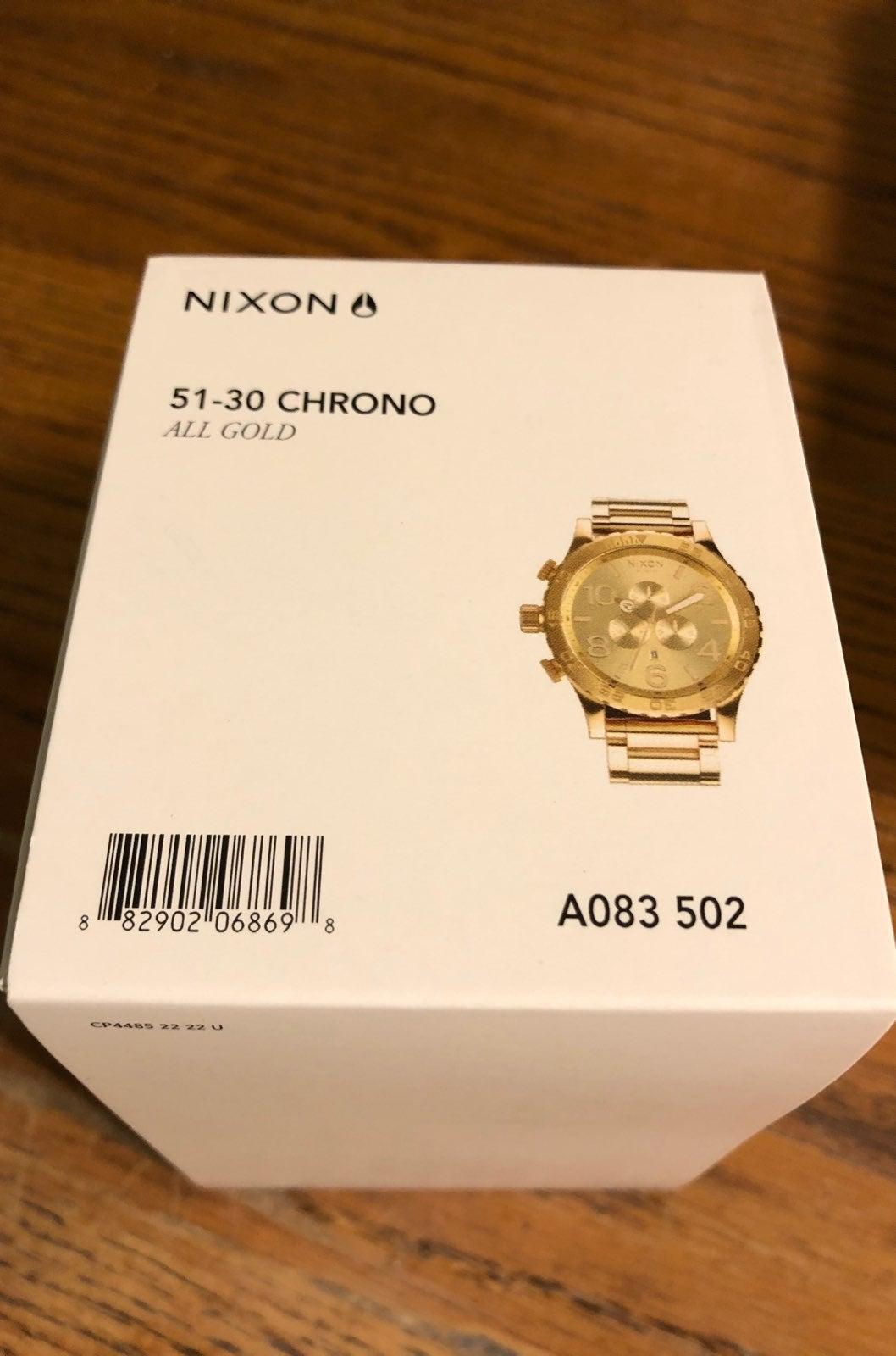 Nixon Chronograph Gold