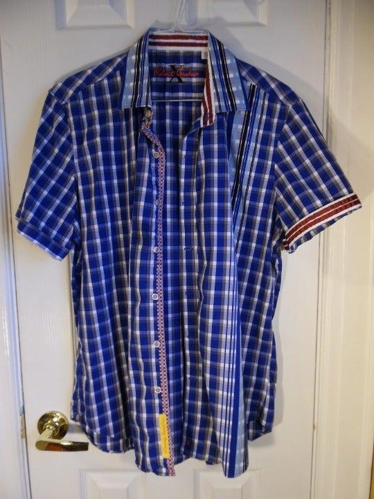 Men's Robert Graham Blue's S/S Shirt