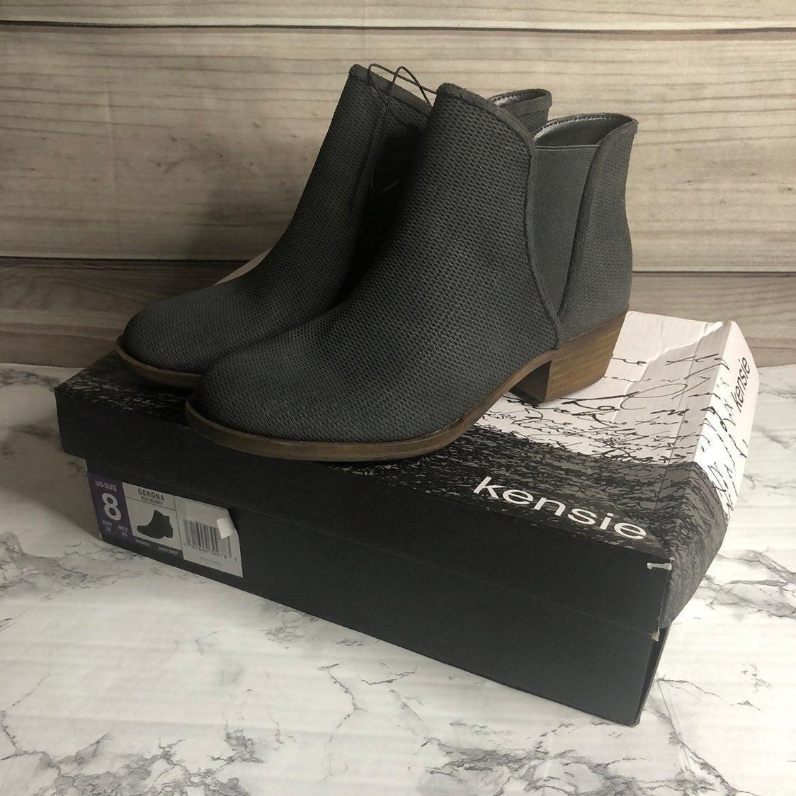 NWT Kensie Ankle Booties Grey Boots 8