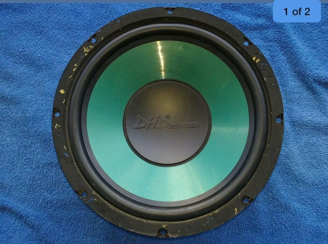 """DHD 12"""" Green Subwoofer"""