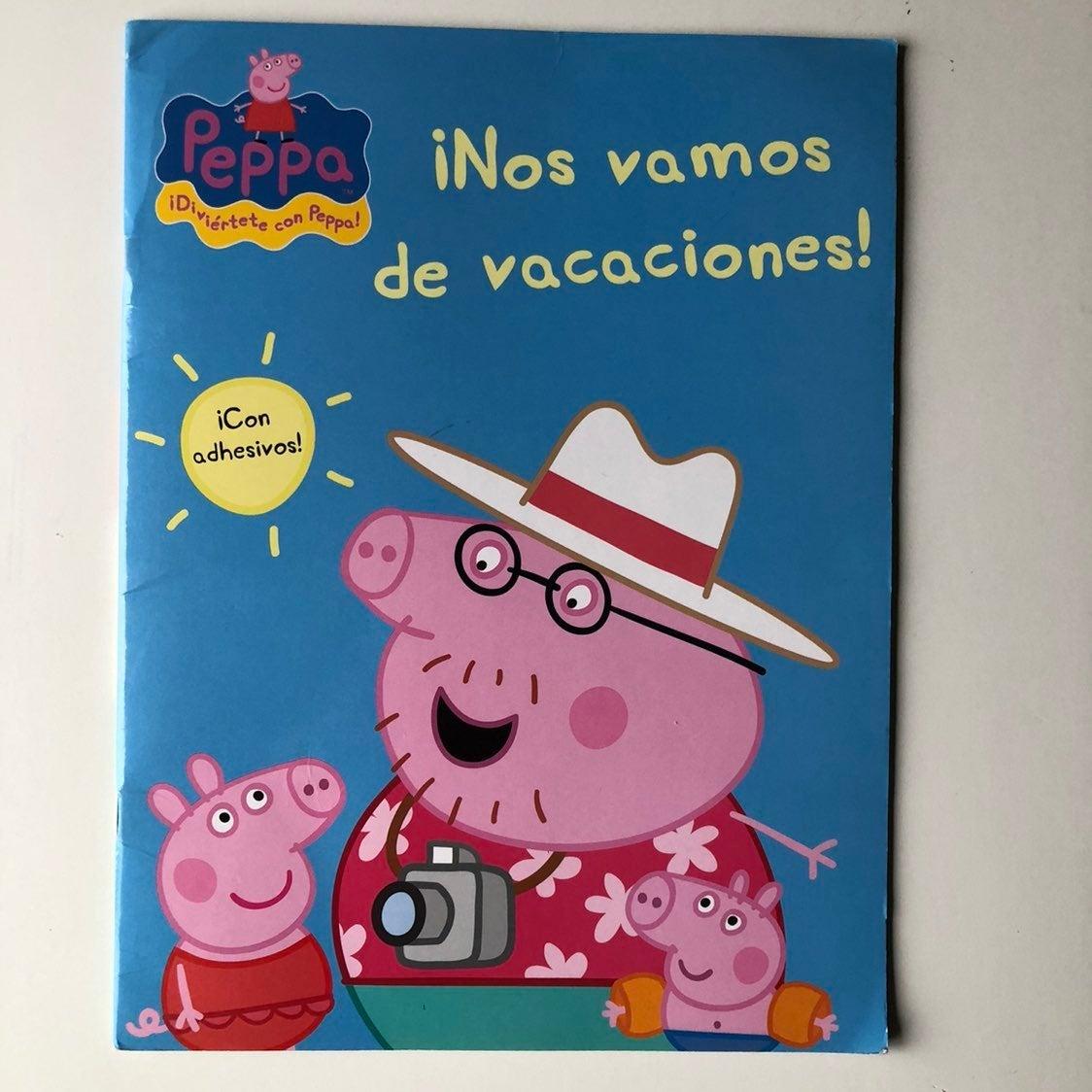 Peppa pig activity book in Spanish