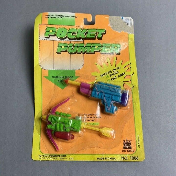 Vintage 90s Mini Squirt Water Gun Set