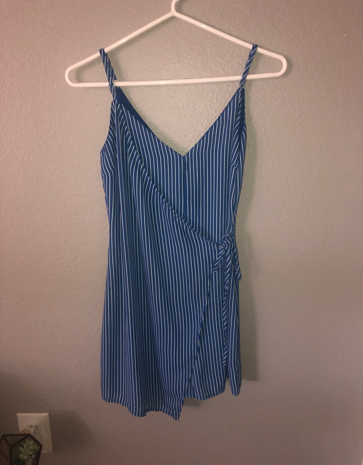 Blue striped Wrap Dress/Romper