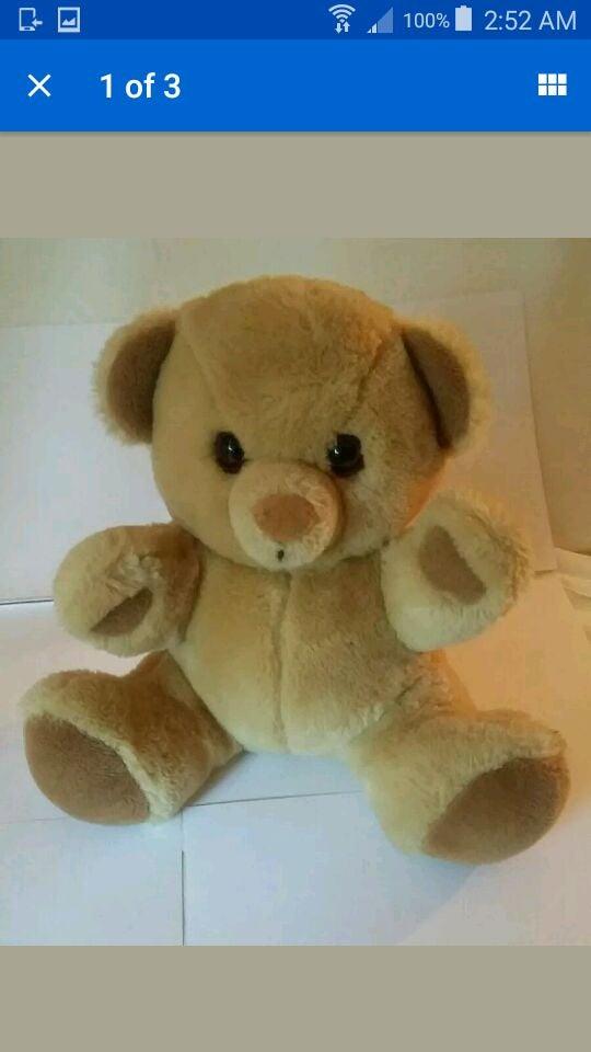 """11"""" Baby Things 1986 Plush bear Dakin"""