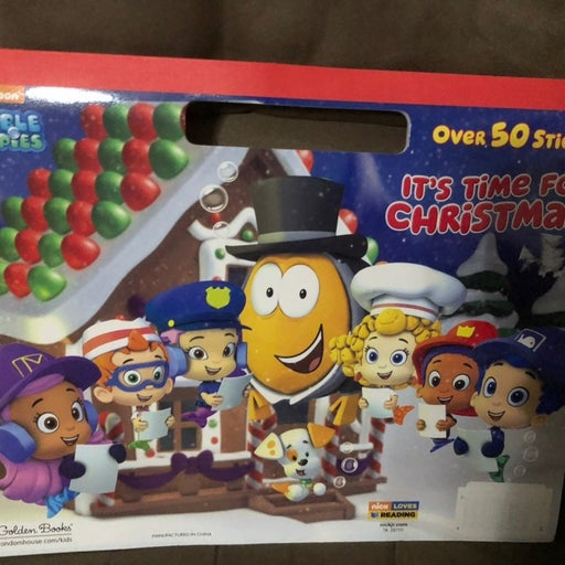 Bubble Guppies coloring book w stickers