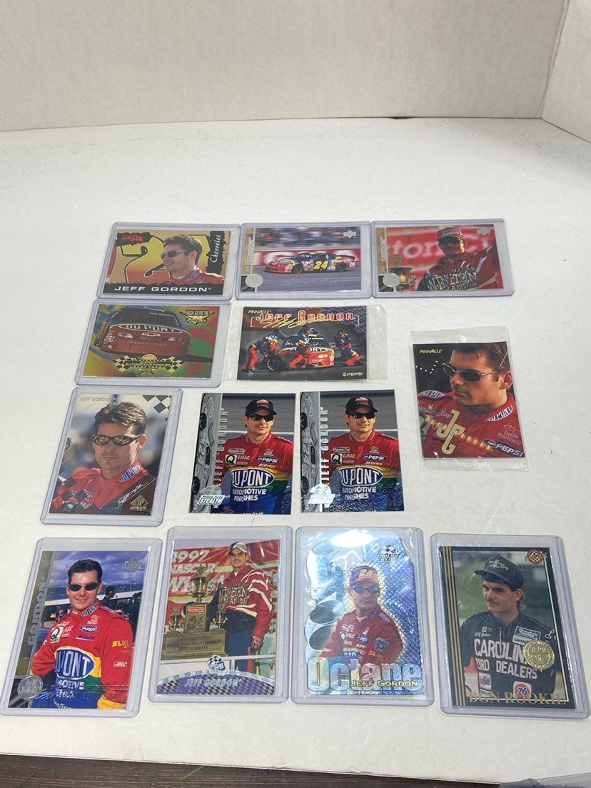 Jeff Gordon Lot of 12 NASCAR Cards