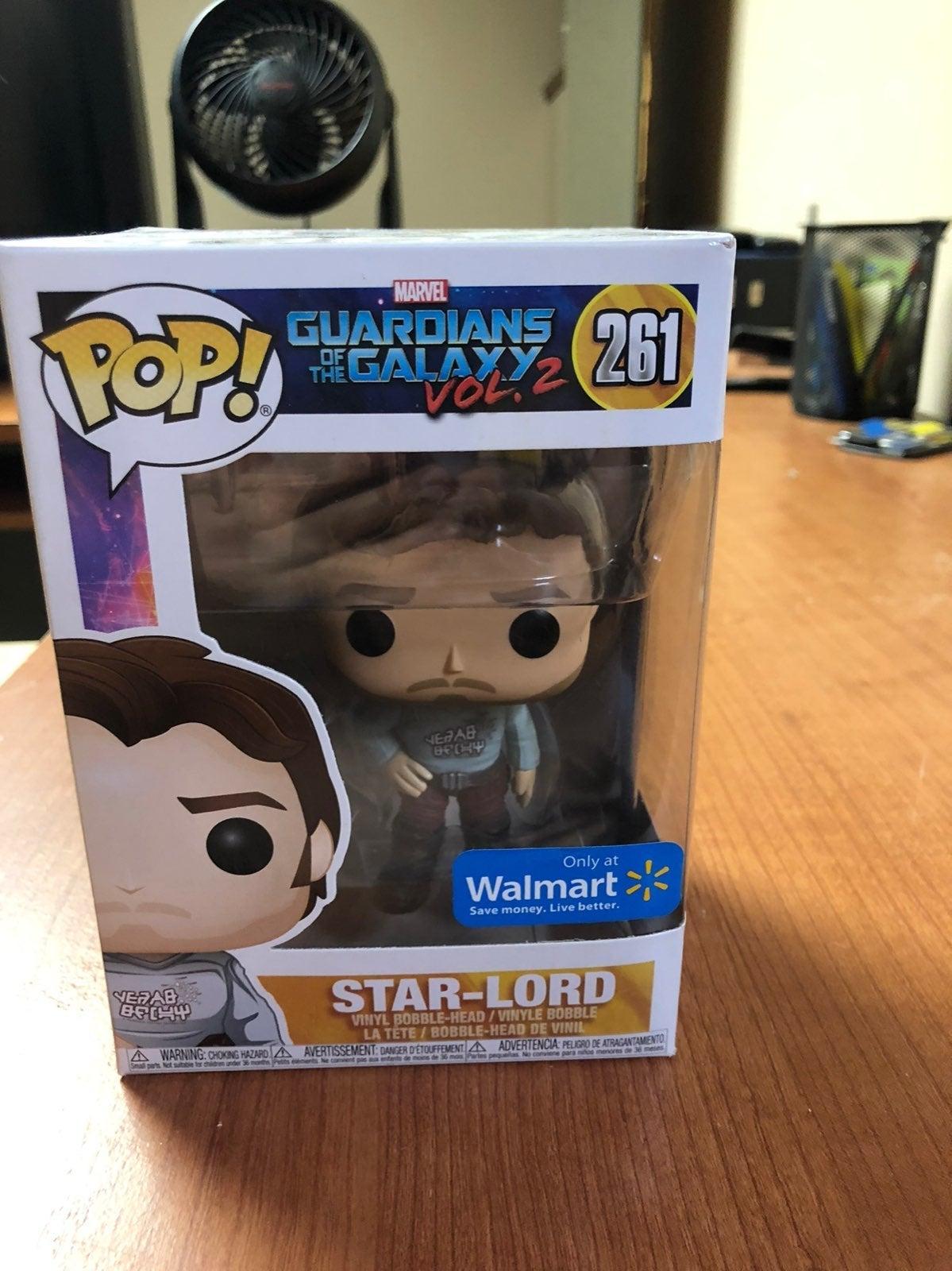 Funko Pop Star Lord #261 Walmart Exc