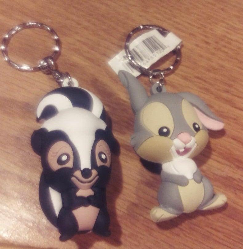 Disney 3D Figural Keychains - Thumper &