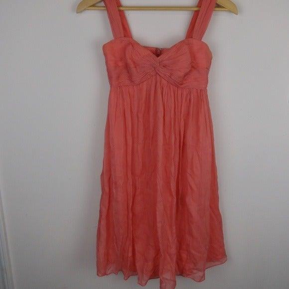 J Crew Suzy Dress A2868 Coral Pink Silk
