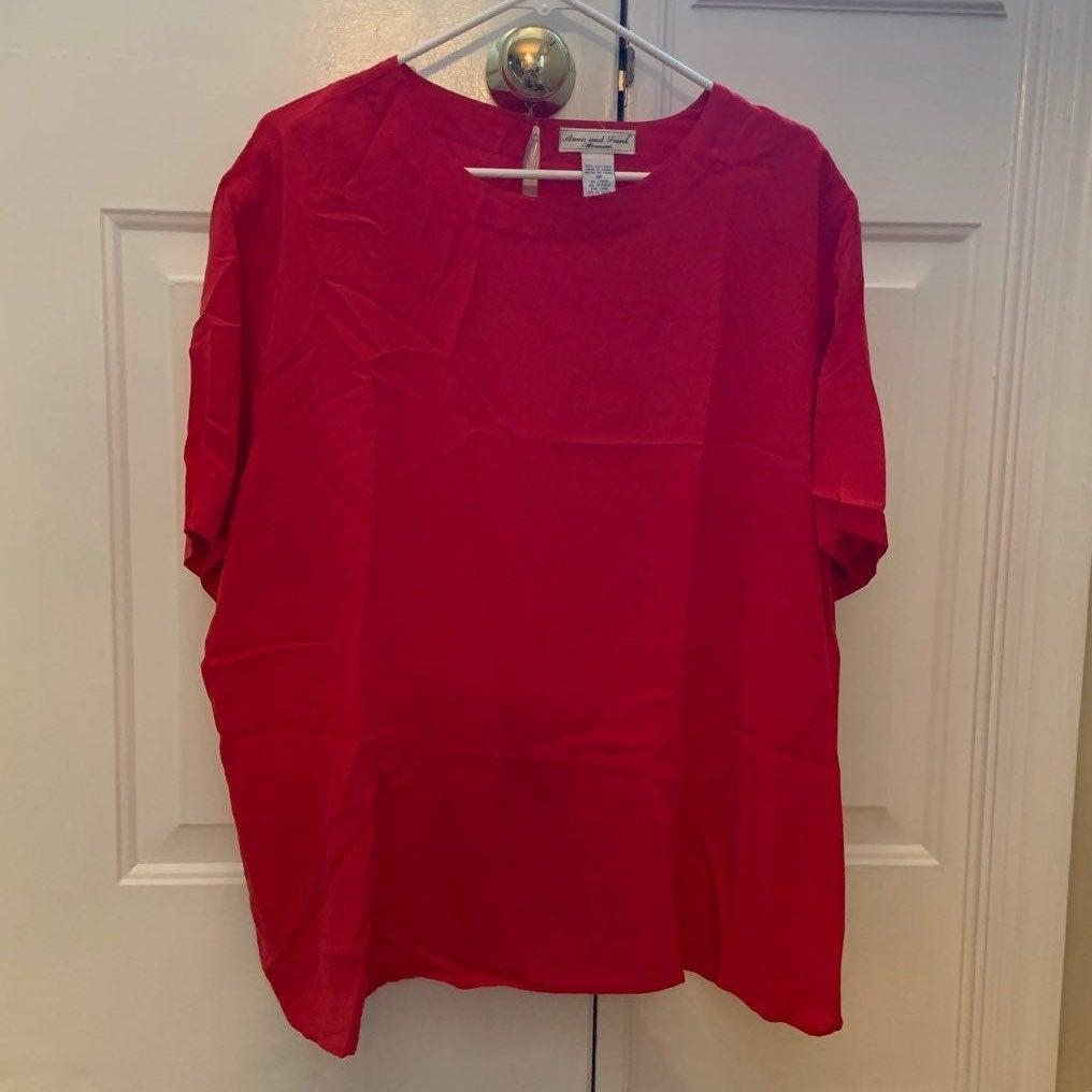 Womens dress blouse 100% silk