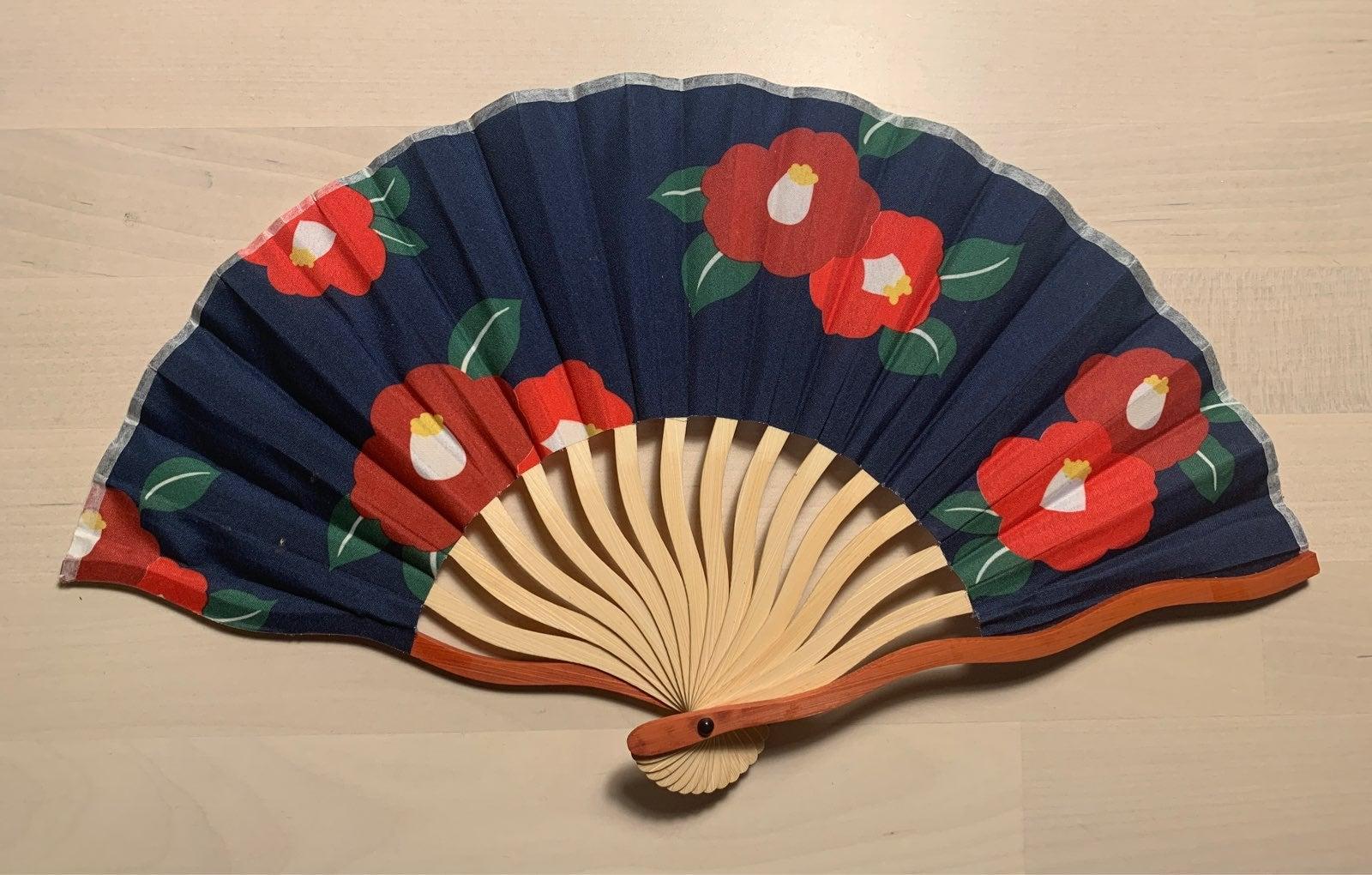 Folding Chinese Fan flower deisgn