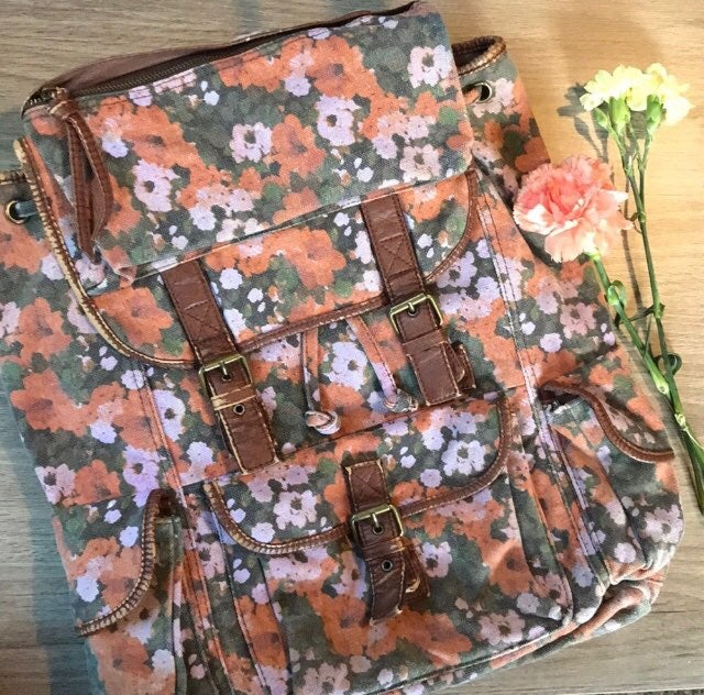 Urban Outiftters Floral Canvas Rucksack