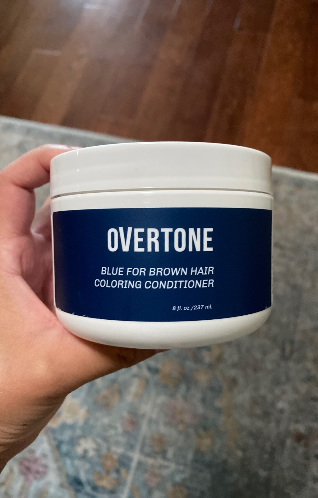 overtone blue for brown hair