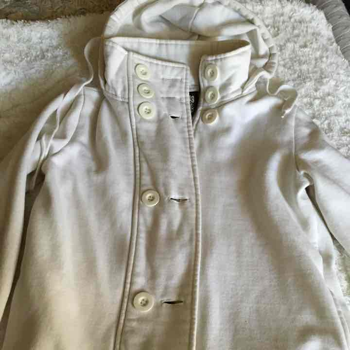 Nordstrom white hoodie jacket - small