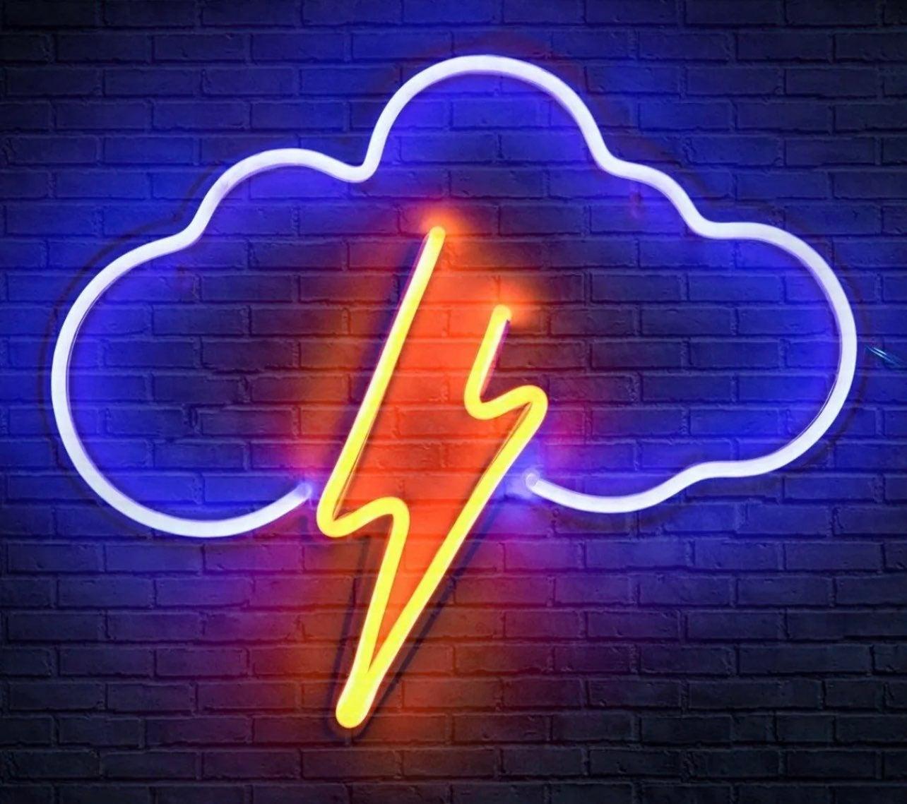 Thunder Storm Neon Sign Decor