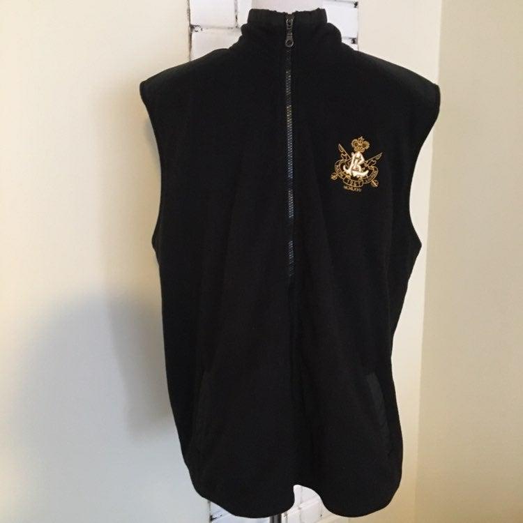 Ralph Lauren Fleece Vest XXL Crest Logo